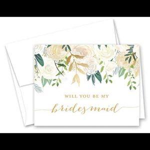 Bridesmaid & Maid of Honor proposal cards